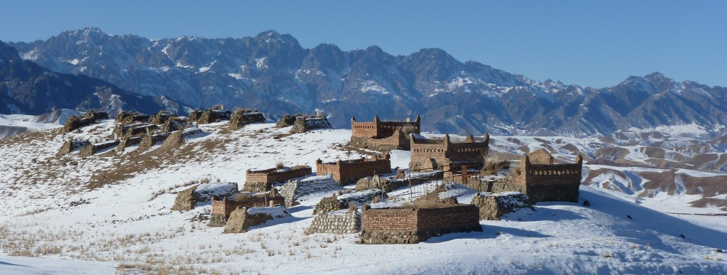 Kazakh Graveyard in the Tian Shan foothills