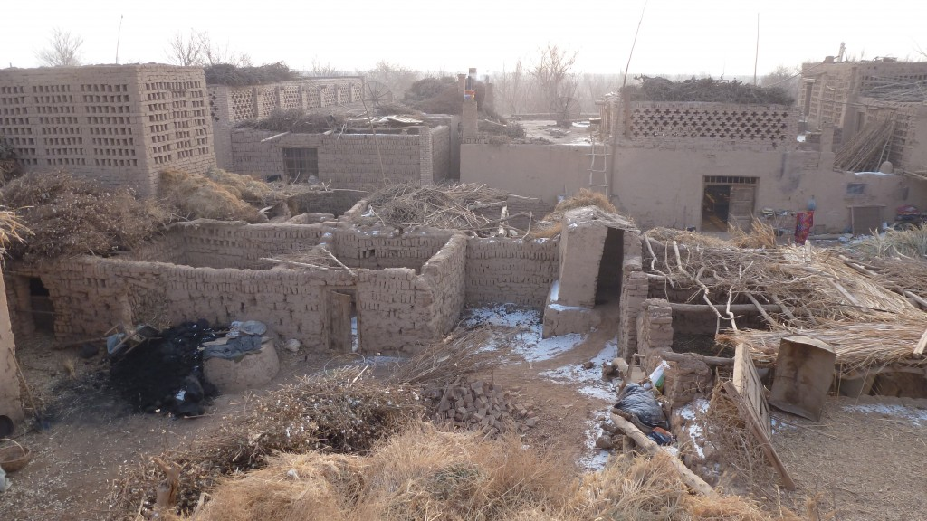 Uyghur backyard in the lower part of Tuyoq