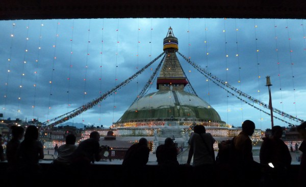 The Boudha Stupa at dusk
