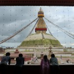 The Boudha Stupa in the afternoon.