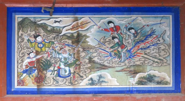 Opera house frescoes in Yu Xian